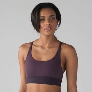 Lululemon Train Times Bra in Purple and Mauve 6